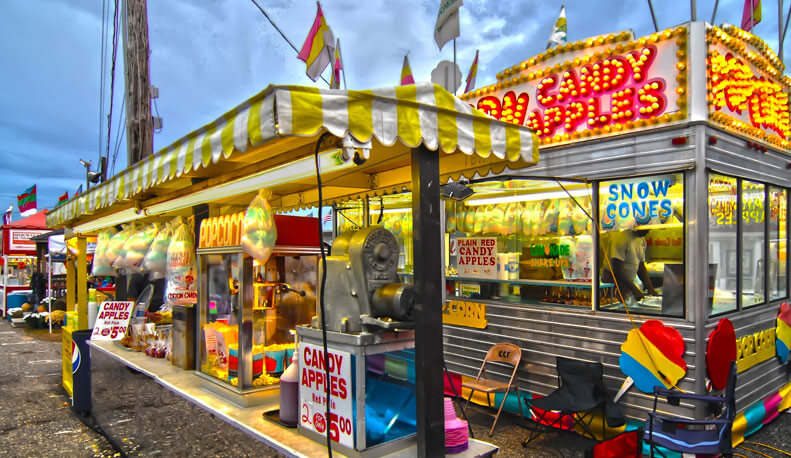 Fair food stand at Minnesota State Fair